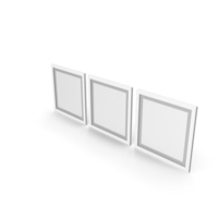 White Framed Paintings with Grey Border PNG & PSD Images
