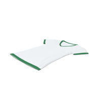 Female V Neck Laying White and Green PNG & PSD Images