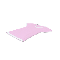 Female V Neck Laying White and Pink PNG & PSD Images