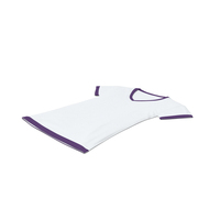 Female V Neck Laying White and Purple PNG & PSD Images