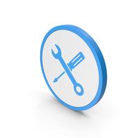 Icon Screwdriver And Wrench Blue PNG & PSD Images