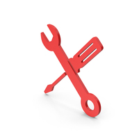 Symbol Screwdriver And Wrench Red PNG & PSD Images