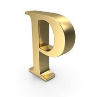 Alphabet Time's Roman P PNG & PSD Images