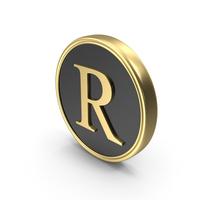 Alphabet Time's Roman Coin R PNG & PSD Images