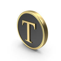 Alphabet Time's Roman Coin T PNG & PSD Images