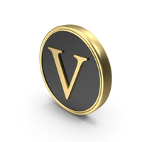 Alphabet Time's Roman Coin V PNG & PSD Images