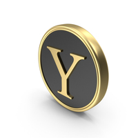Alphabet Time's Roman Coin Y PNG & PSD Images