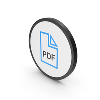 Icon PDF File Blue PNG & PSD Images