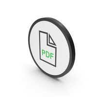 Icon PDF File Green PNG & PSD Images