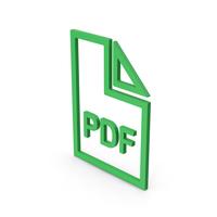 Symbol PDF File Green PNG & PSD Images