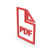 Symbol PDF File Red PNG & PSD Images