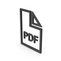 Symbol PDF File Black PNG & PSD Images