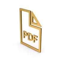 Symbol PDF File Gold PNG & PSD Images