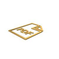 Gold Symbol PDF File PNG & PSD Images