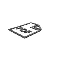 Black Symbol PDF File PNG & PSD Images