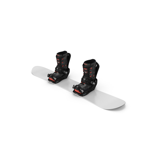 Snowboard with Nitro Staxx Bindings and Boots PNG & PSD Images