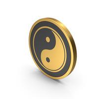 Gold Icon Yin Yang PNG & PSD Images