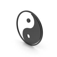 Symbol Yin Yang Black PNG & PSD Images