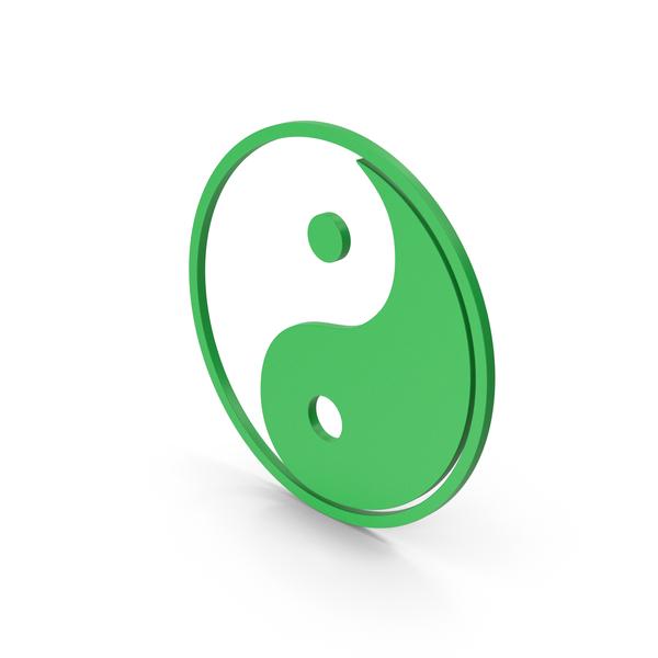 Symbol Yin Yang Green PNG & PSD Images