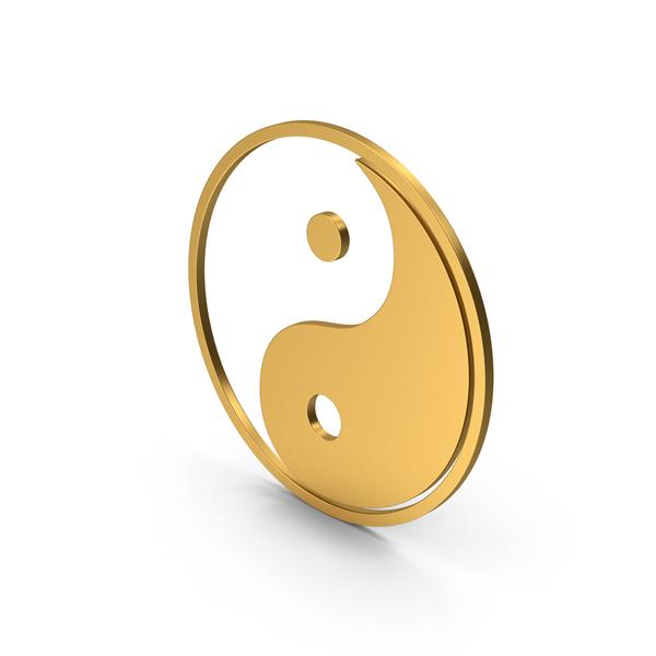 Symbol Yin Yang Gold PNG & PSD Images
