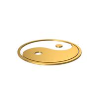 Gold Symbol Yin Yang PNG & PSD Images