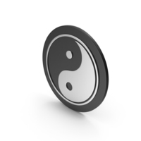 Yin Yang Silver Icon PNG & PSD Images