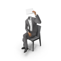 Chair Notepad Suit Grey PNG & PSD Images