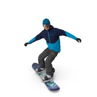 Snowboarder Riding Pose PNG & PSD Images