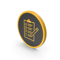 Icon Checklist Yellow PNG & PSD Images