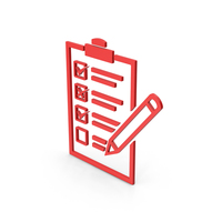 Symbol Checklist Red PNG & PSD Images