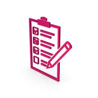 Symbol Checklist Metallic PNG & PSD Images