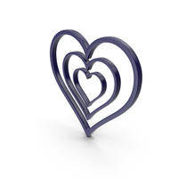 Heart Dark Blue Icon PNG & PSD Images