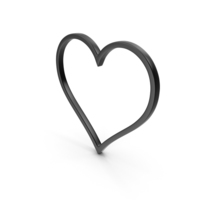Heart Black Icon PNG & PSD Images