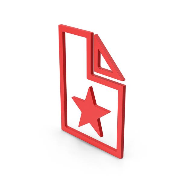 Symbol Favorite File Red PNG & PSD Images