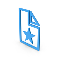 Symbol Favorite File Blue PNG & PSD Images