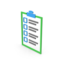 Symbol Checklist Colored PNG & PSD Images