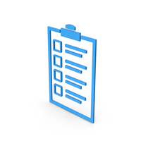 Symbol Checklist Blue PNG & PSD Images