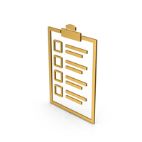 Symbol Checklist Gold PNG & PSD Images