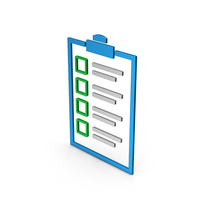 Symbol Checklist Colored Metallic PNG & PSD Images