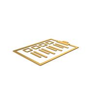 Gold Symbol Checklist PNG & PSD Images