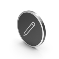 Silver Icon Pencil PNG & PSD Images