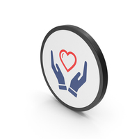 Icon Heart In Hands Colored PNG & PSD Images
