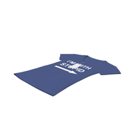 Female V Neck Laying With Tag Dark Blue Im With Stupid PNG & PSD Images