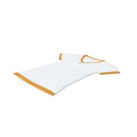 Female V Neck Laying With Tag White And Orange PNG & PSD Images