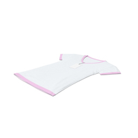 Female V Neck Laying With Tag White And Pink PNG & PSD Images