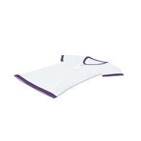 Female V Neck Laying With Tag White And Purple PNG & PSD Images