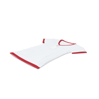 Female V Neck Laying With Tag White And Red PNG & PSD Images