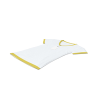Female V Neck Laying With Tag White And Yellow PNG & PSD Images