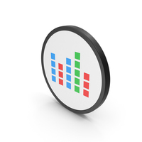 Icon Graph Cube Chart Colored PNG & PSD Images