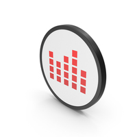Icon Graph Cube Chart Red PNG & PSD Images